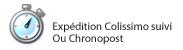 Livraison 24/48H : expédition Colissimo suivi, Chronopost, Chrono-relais