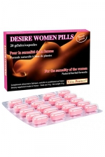 Desire Women pills x 20 - nouvelle formule - Pour stimuler le désir et exalter le plaisir chez la femme. Formule naturelle de nouvelle génération.