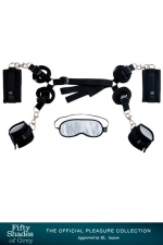 Kit d'attaches pour  lit - Fifty Shades Of Grey - Coffret de Bondage spécial lit  Hard Limits , par Fifty Shades Of Grey.