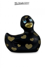 Mini canard vibrant Romance noir et or - Déclinaison noire et or du célèbre canard vibrant dans la collection  Romance .  I Rub My Duckie est désormais en version 2.0.