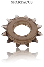 Cock Ring Stud Elastomer - Un anneau large, bordé de pics pour une esthétique virile et une efficacité maximum.