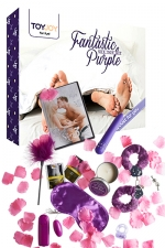 Fantastic Purple - sex toy  kit - Vibro, menottes, bandeau, etc... un coffret complet et pas cher contenant des accessoires coquins pour le couple.