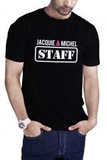 T-shirt Jacquie et Michel Staff - noir - T-shirt humoristique Jacquie et Michel STAFF, en noir, pour impressionner votre entourage !