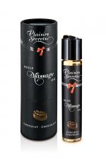 Huile de massage gourmande - Chocolat - Huile de massage comestible avec goût chocolat exquis, par Plaisirs Secrets.