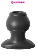 Open Wide Tunnel Plug - XL - Plug anal grande taille traversé par un tunnel, en silicone haute qualité, 6,1 cm de longueur insérable par 5 cm de diamètre maxi.