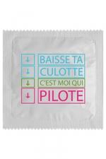 Préservatif humour - Baisse Ta Culotte - Préservatif  Baisse Ta Culotte , un préservatif personnalisé humoristique de qualité, fabriqué en France, marque Callvin.