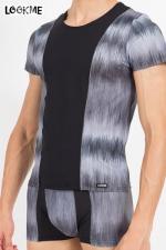 T-Shirt Shade - Tee shirt bicolore en lycra, assorti à la gamme de lingerie masculine Shade de Look Me.