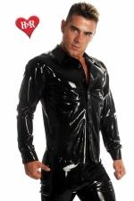 Chemise Rubber Shirt latex - Chemise en latex haute qualité, un classique revisité dans une matière d'exception.